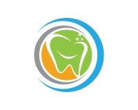 Zahnmedizinischer Logo Schablonenvektor Stockfoto