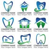 Zahnmedizinischer Logo Set Collection Lizenzfreies Stockbild