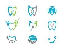 Zahnmedizinischer Logo Template Stockbilder