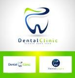 Zahnmedizinischer Zahnarzt Logo Design Stockfotos