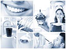Zahnmedizinisches Bildmosaik Stockbild