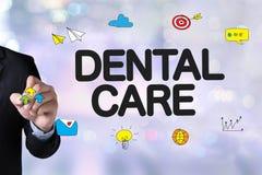 Zahnmedizinisches Firmenzeichen Klinik des ZAHNPFLEGEN, Zahnpflegesymbole Lizenzfreies Stockbild