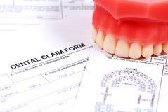 Zahnmedizinisches Formular lizenzfreie stockbilder