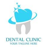 Zahnmedizinisches Kliniklogo-Schablonendesign Lizenzfreies Stockfoto