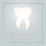 Zahnmedizinisches Kliniklogodesign Lizenzfreie Stockfotografie