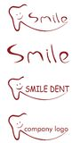 Zahnmedizinisches Lächelnlogo Lizenzfreie Stockfotografie