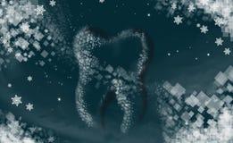 Zahnmedizinisches Logo mit Hintergrund lizenzfreies stockfoto