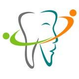 Zahnmedizinisches Zeichen Stockfoto