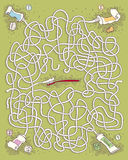 Zahnpasta Maze Game für Kinder Lizenzfreies Stockbild