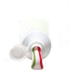 Zahnpasta und Gefäß Lizenzfreie Stockbilder