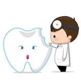 Zahnpflege des Zahnarztes Stockbild