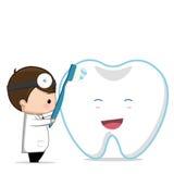 Zahnpflege des Zahnarztes Stockbilder