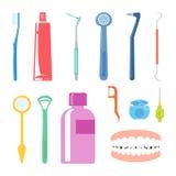 Zahnpflege-Einzelteile Lizenzfreie Stockfotografie