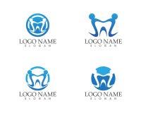 Zahnpflege-Logovektor der Gesundheit Lizenzfreie Stockfotografie