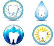 Zahnpflege und Natur Stockbild
