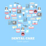 Zahnpflegeplakat Lizenzfreie Stockfotos