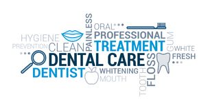 Zahnpflegetag-cloud stock abbildung