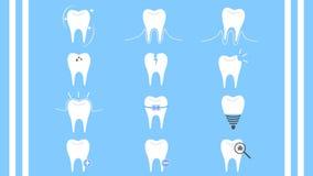 Zahnpflegezahnsammlungs-Ikonenvektor lizenzfreie stockfotos