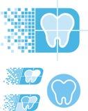 Zahnpflegezeichen stock abbildung