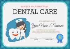 Zahnpflegezertifikat Stockfoto