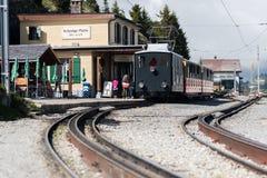 Zahnradbahn-Bahnhof stockfoto
