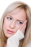 Zahnschmerzen oder Kopfschmerzen Stockfotos