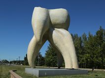 Zahnskulptur durch Künstler Seward Johnson in Hamilton, NJ Stockfotografie