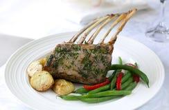 Zahnstange des Lamm-Abendessens Stockfoto