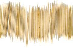 Zahnstocher auf weißem Hintergrund Lizenzfreies Stockbild