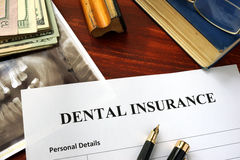 Zahnversicherungspolitik lizenzfreies stockfoto