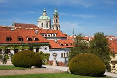 Zahrada de ¡ de Vrtbovskà de jardin de Vrtba, Lesser Town, Prague Image libre de droits