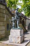 Zahringer Denkmal雕象-伯尔尼-瑞士 免版税库存图片