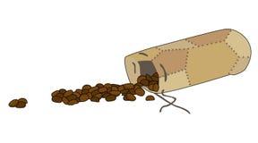 Zaino con caffè illustrazione di stock
