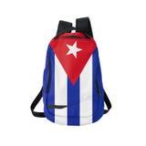 Zaino cubano della bandiera isolato su bianco fotografie stock