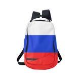 Zaino della bandiera della Russia isolato su bianco Immagini Stock
