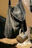 Zaino e tazza di guerra civile Fotografia Stock Libera da Diritti