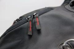 Zaino nero di fotografia Fotografia Stock