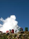 Zaino sull'Himalaya Fotografie Stock Libere da Diritti