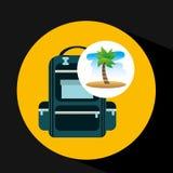 Zaino tropicale della spiaggia di vacanza Fotografie Stock Libere da Diritti