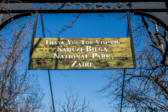 Zaire - Kahuzi Biega National Park Sign Royalty Free Stock Images