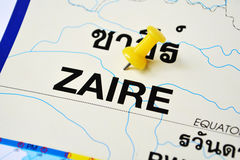Zaire map Royalty Free Stock Images