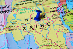 Zaire map Royalty Free Stock Image