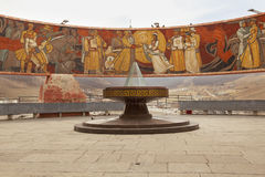 The Zaisan Tolgi - a Soviet era monument in Ulaanmaatar, capital Royalty Free Stock Photo