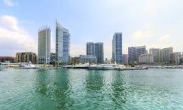 Zaitunay海湾在贝鲁特,黎巴嫩 免版税库存图片