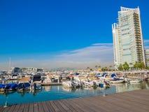 Zaitunay Bay in Beirut, Lebanon. BEIRUT, LEBANON - MAY 22, 2017 - View of Zaitunay Bay, Beirut`s leisure and entertainment destination stock photography