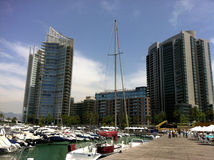 Zaitunay Bay in Beirut, Lebanon stock images