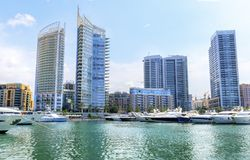 Zaitunay zatoka w Bejrut, Liban Obraz Royalty Free