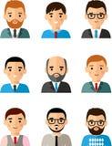 Zajęć avatars międzynarodowy różny kierownika mężczyzna, kobieta i Obrazy Stock