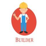 Zajęcie budowniczy, młody człowiek charakter Royalty Ilustracja