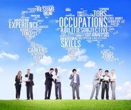 Zajęcie karier wiedzy specjalistycznej działów zasobów ludzkich Akcydensowy pojęcie Obrazy Stock